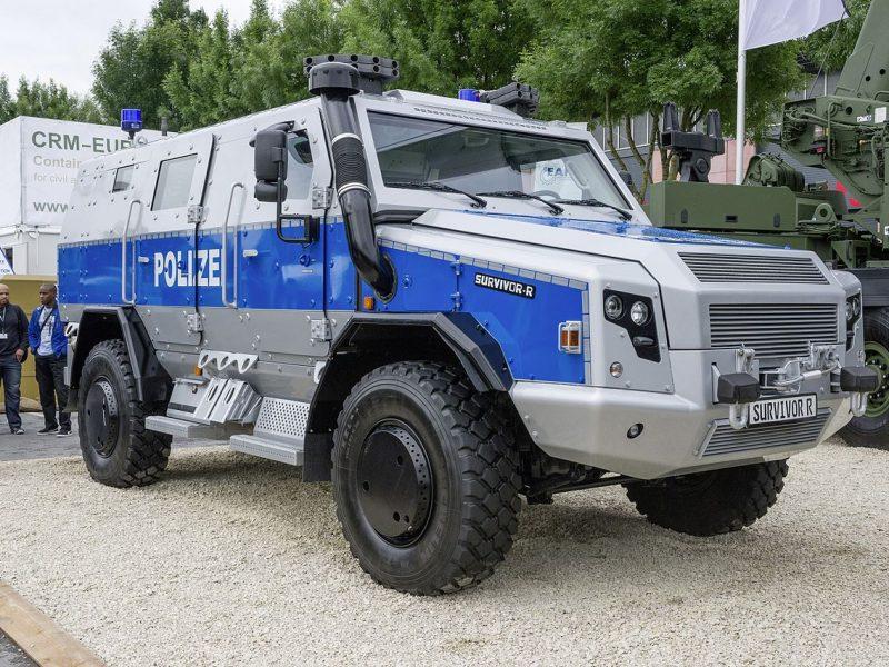 Polizei-Panzerwagen für den G20
