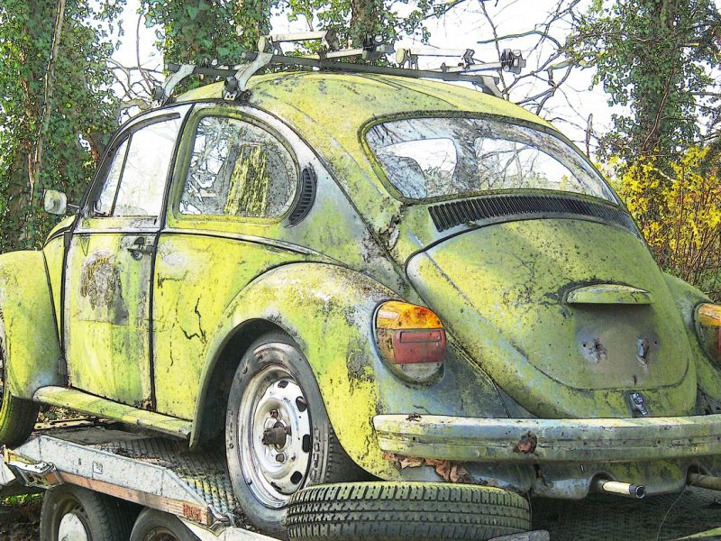 VW Käfer-Wrack
