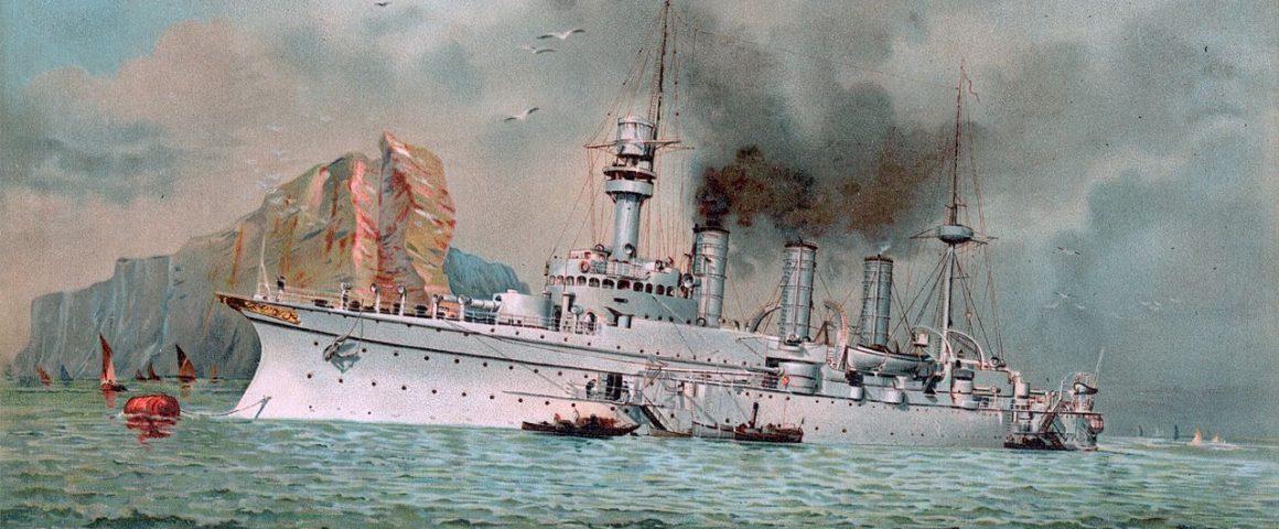 Kriegsschiff Hertha 1902