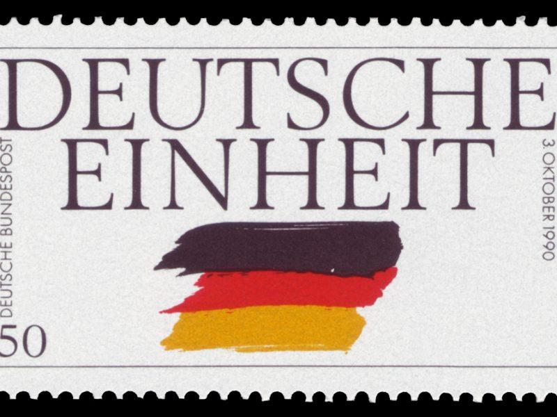 Briefmarke zur Deutschen Einheit