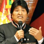 Präsident Eva Morales