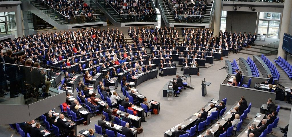 Konstituierende Sitzung des 19. Deutschen Bundestages am 24. Oktober 2017.