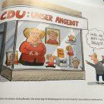 Merkel, ein Cartoon von Heiko Sakura