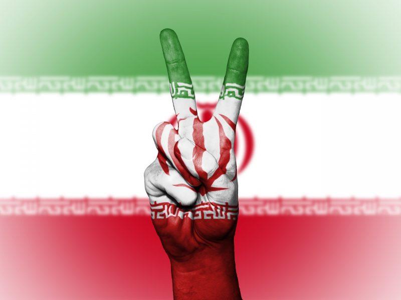 Frieden,szeichen Iranische Flagge