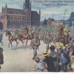 Einzug der deutschen Truppen in Brüssel