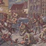 : Franktireur-Überfall in Löwen am 25. August 1914