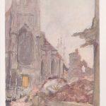 Max Slevogt, Kathedrale von Löwen, 16. Oktober 1914