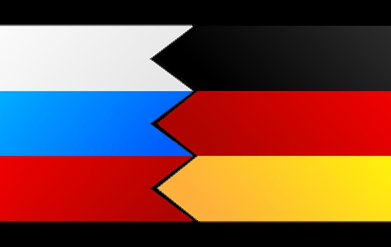 Deutschland-Russland Flaggen