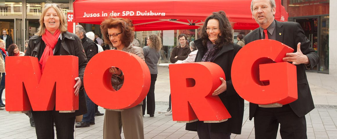 Andrea Nahles 2010 in Duisburg