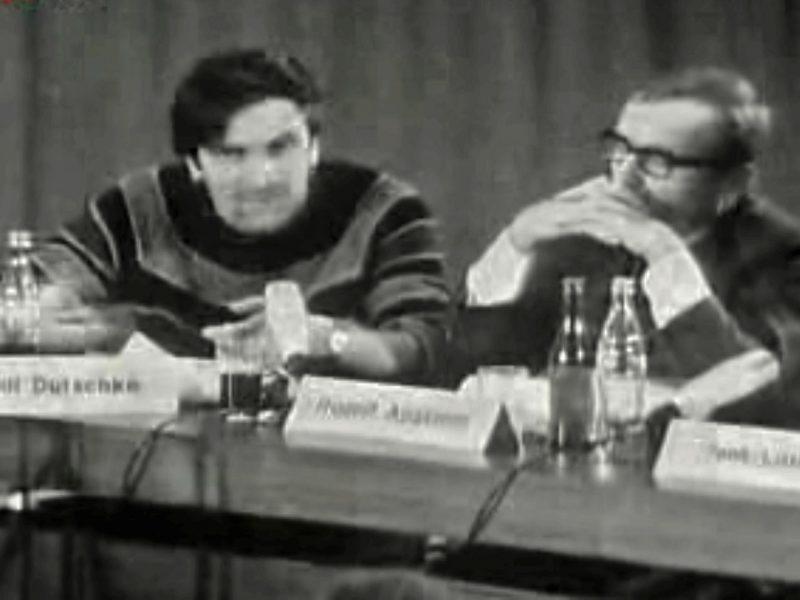Rudi Dutschlke im Gespräch mit Rudolf Augstein