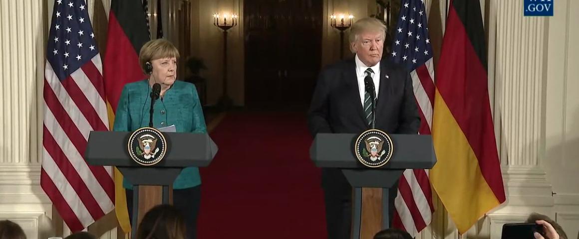 Angela Merkel und Donald Trump 2017