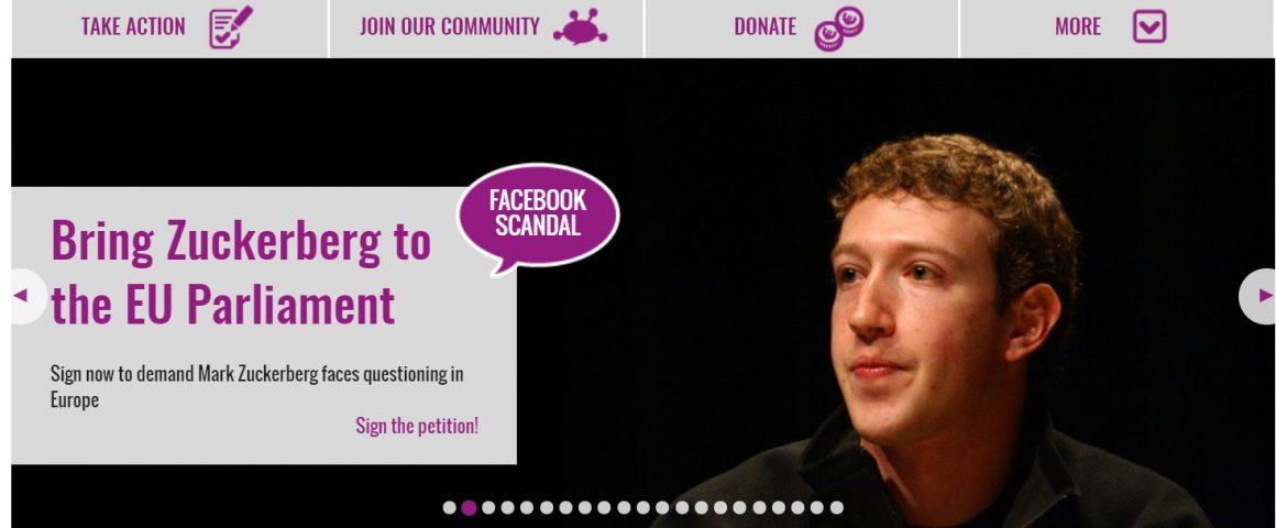 Facebook-Kampagne WeMove.EU Screenshot