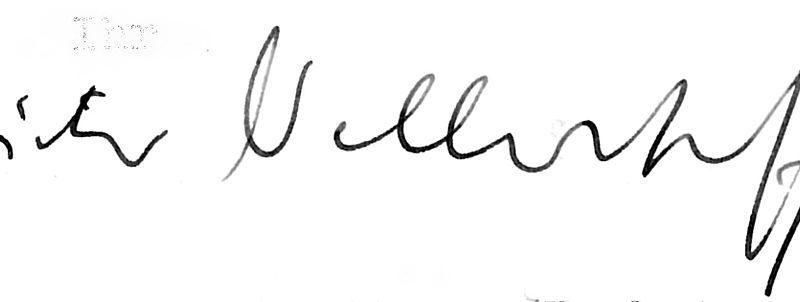 Signatur Dieter Wellershoff