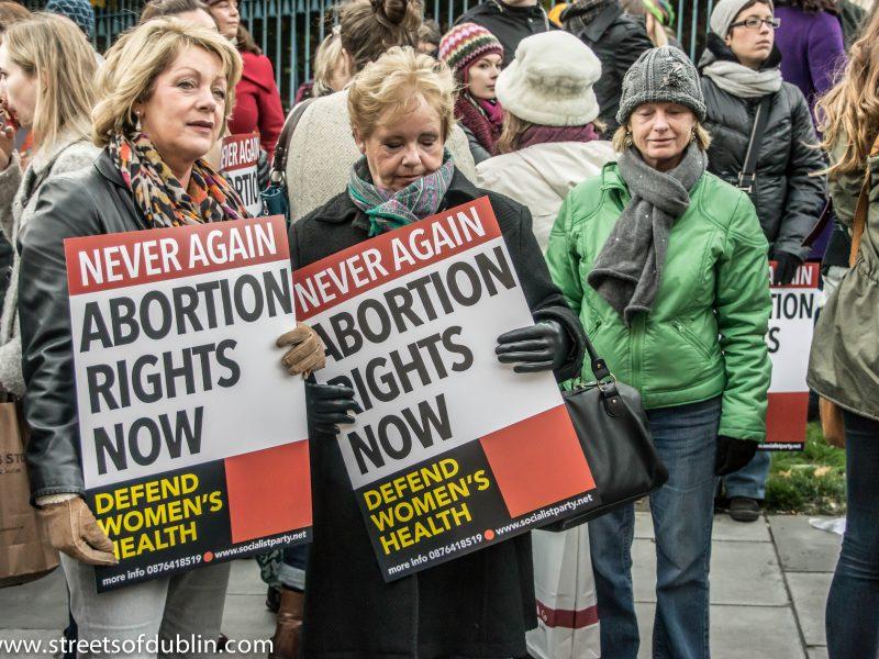 Protest für Selbstbestimmung und Abtreibung