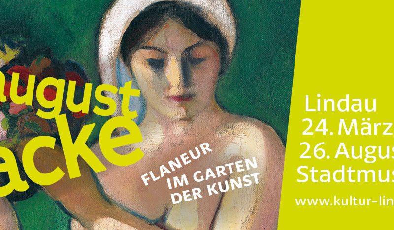 """Ausstellungsplakat """"Flaneur im Garten der Kunst"""""""