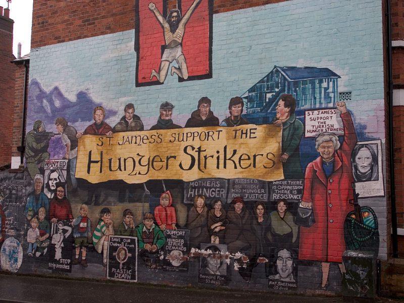 Wandgemälde Belfast zum Hungerstreik 1981