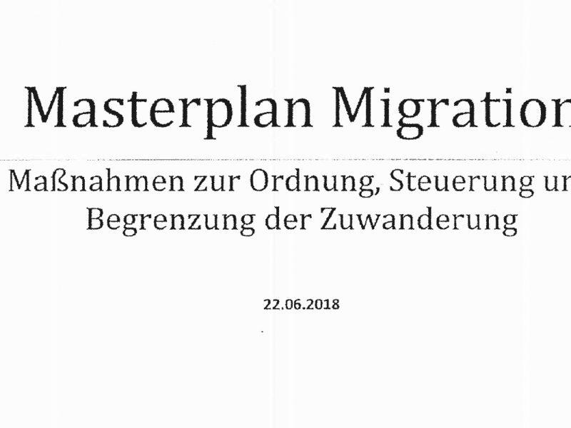 Seehofers Masterplan