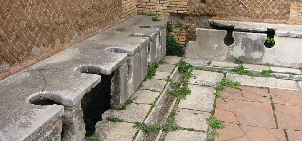 Öffentliche Toiletten im antiken Rom
