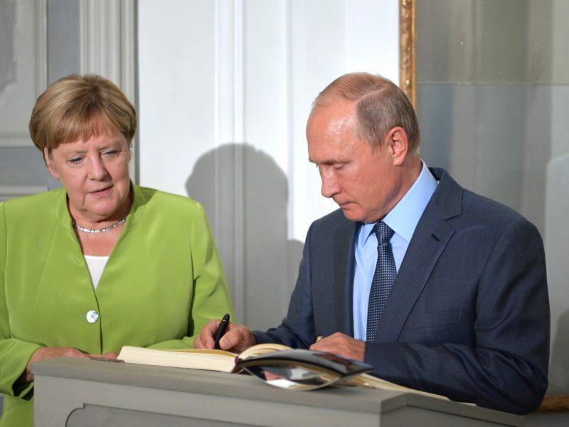 Treffen Merkel - Putin in MEseberg
