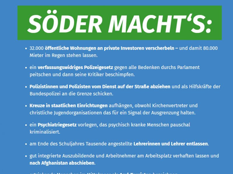 "Screensho Website ""Söder macht's"""
