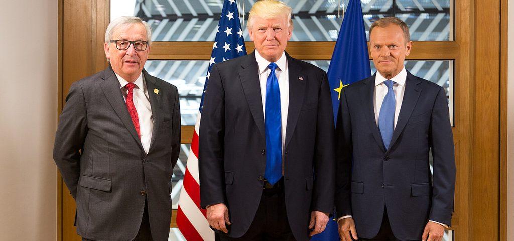 Jean-Claude Juncker , Donald Tusk und Donald Trump