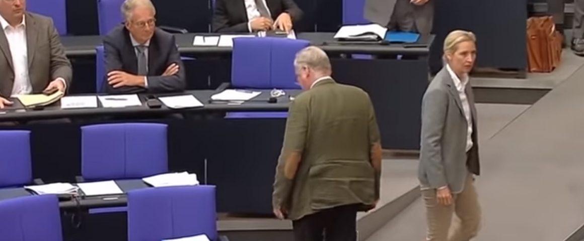 AfD - verläßt beleidigt die Generaldebatte des Bundestages