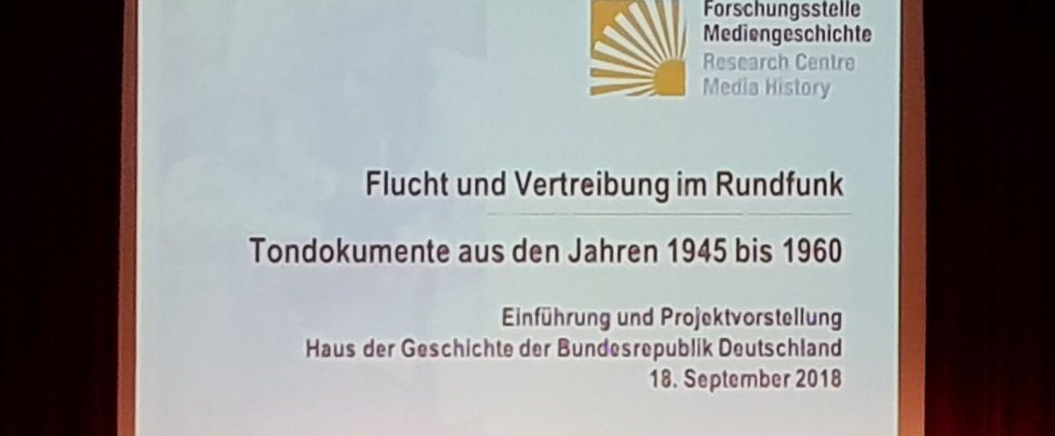 Podiumsdiskussion Haus der Geschichte