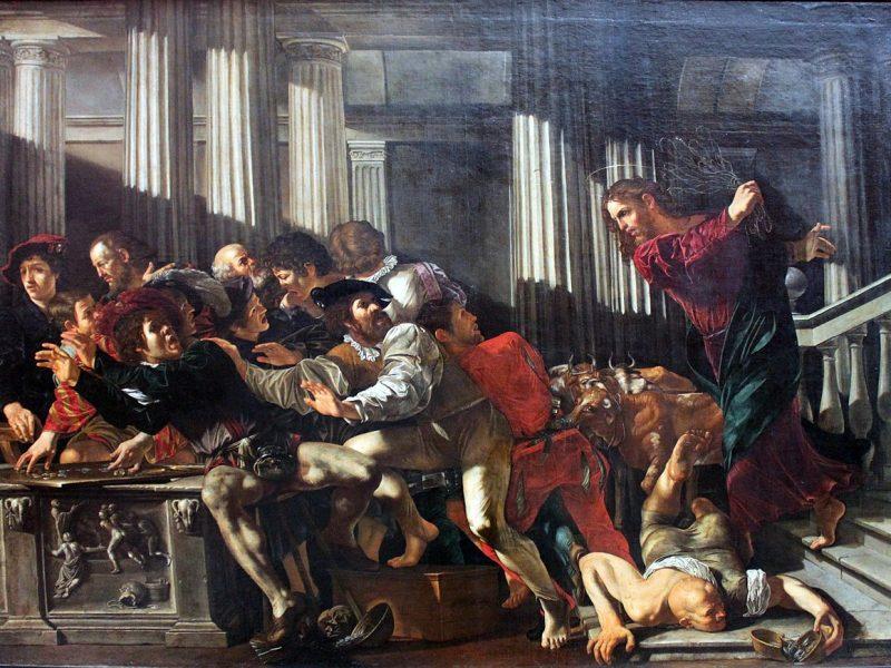 Christus vertreibt die Geldwechsler aus dem Tempel