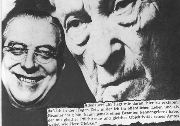 Naziverbrecher Hans Globke und Konrad Adenauer