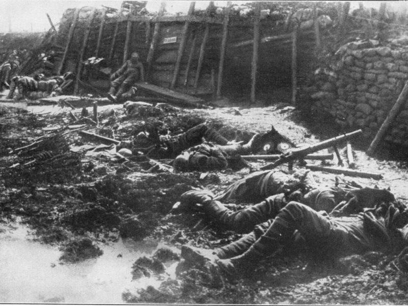 Folgen eines Gasangriffs , Frankreich 1916