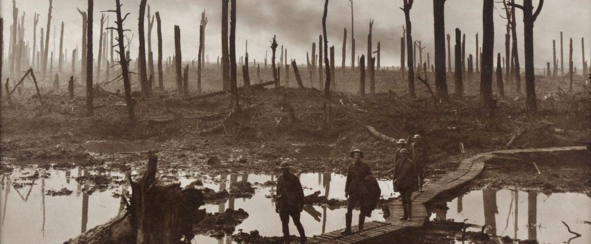 Schlachtfeld im ersten Weltkrieg bei Ypern