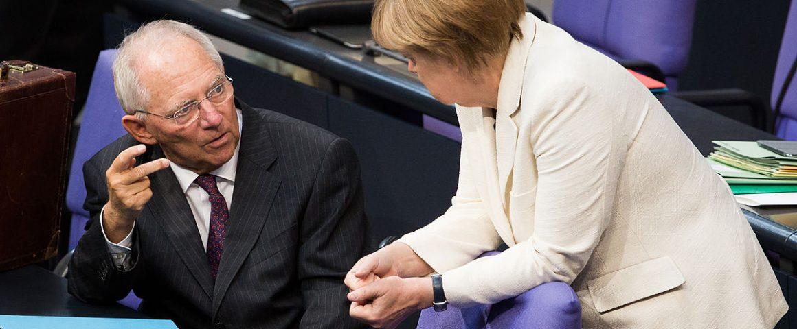 Wolfgang Schäuble - Angela Merkel, Bild: Tobias Koch