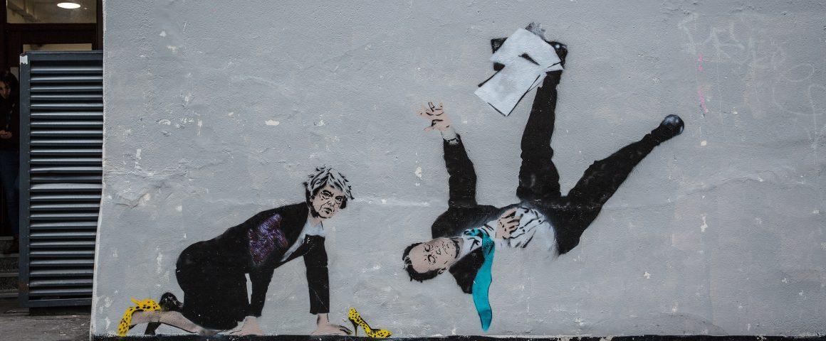 Graffiti, Theresa May und David Cameron