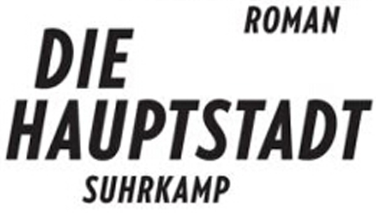 """Roman """"Die Hauptstadt"""" (Buchcover)"""
