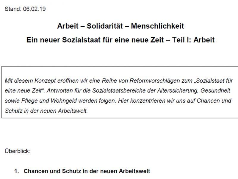 SPD Vorstandspapier