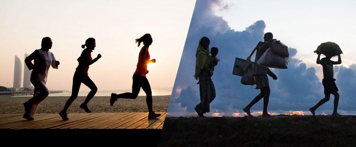 """Kampagne """"Zwei Milliarden Kilometer Richtung Schutz. Jeder Schritt zählt"""