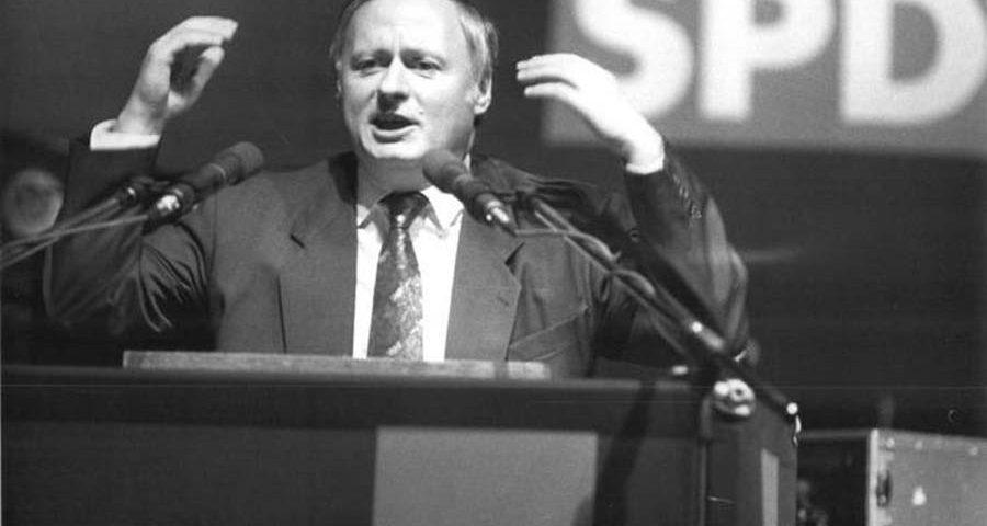 Oskar Lafontaine, als Kanzlerkandidat der SPD , 1990