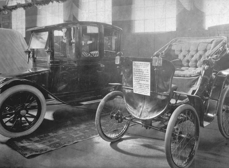 Elektroauto vs. Oldtimer 1912