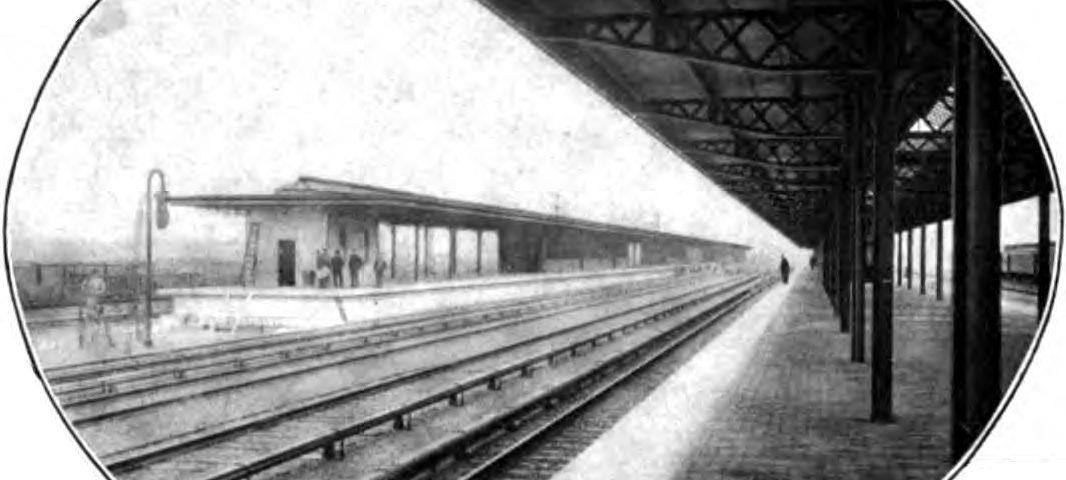 Manhattan Transfer ein Passagierbahnhof in Harrison, New Jersey (USA)