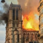 Notre Dame in Flammen am 15. April 2019