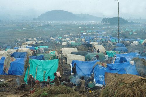 Flüchtlingslager von Überlebenden des Völkermords in Ruanda
