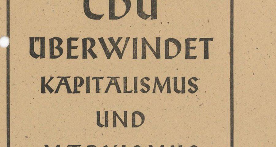 Ahlener Programm der CDU, 1947