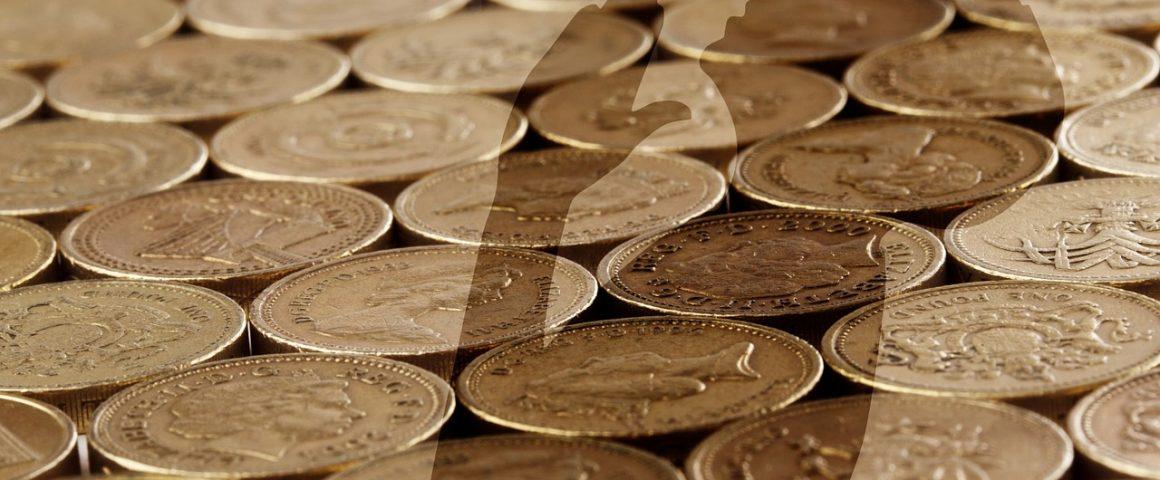 Anbeten des Geldes