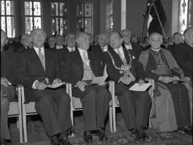 Konrad Adenauer und Kardinal Frings