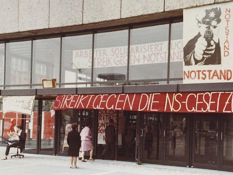 1968: rotest gegen die Notstandsgesetzgebung