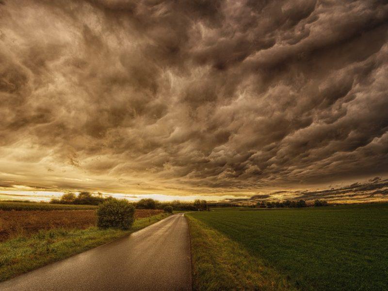 Dunkle Wolken über Sachsen