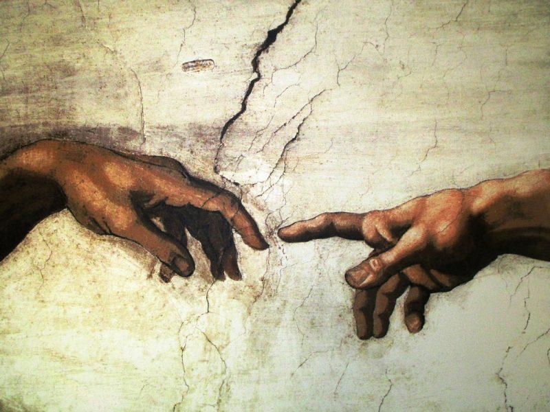 Michelangelo - Die Erschaffung Adams, Bildausschnitt