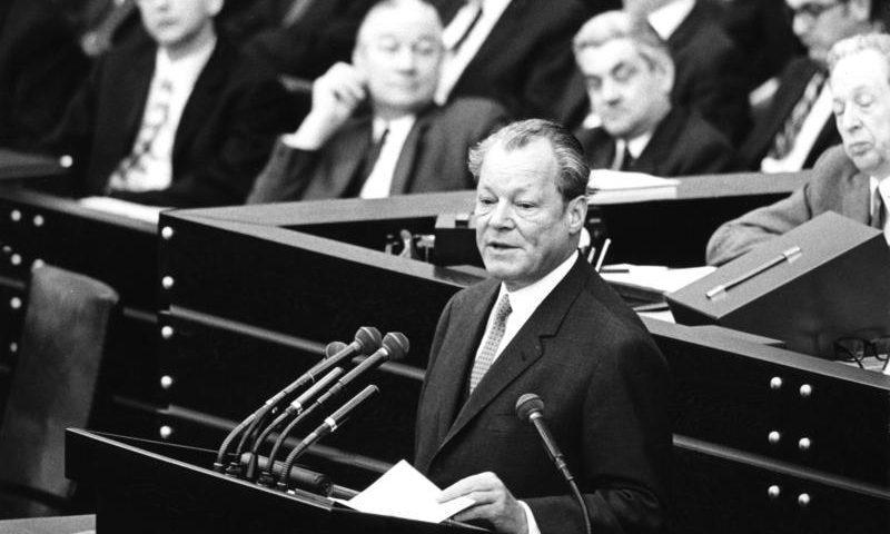 Willy Brandt 1971, Bundestag Bonn