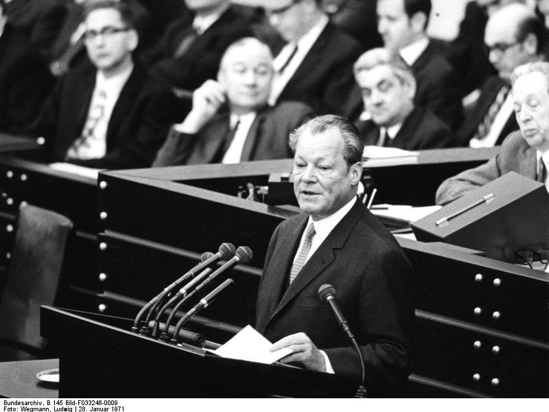 Willy Brandt 1971, Bundestag Bonn
