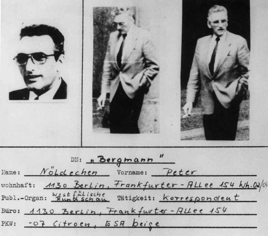 Deckblatt der 800 Seiten starken Stasi-Akte des WR-Korrespondenten